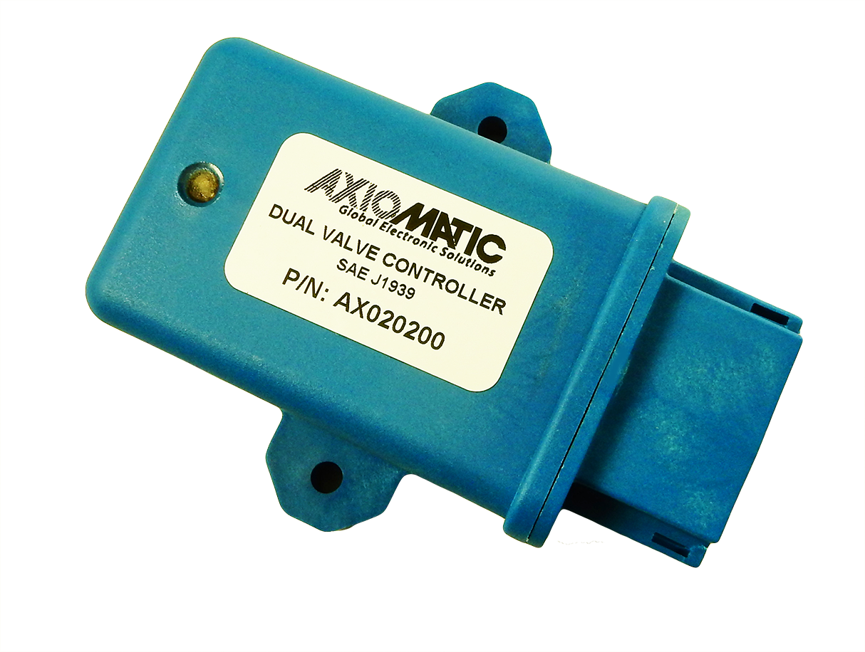 AX020200: CAN bus to 2 Outputs Valve Controller with LED | Axiomatic