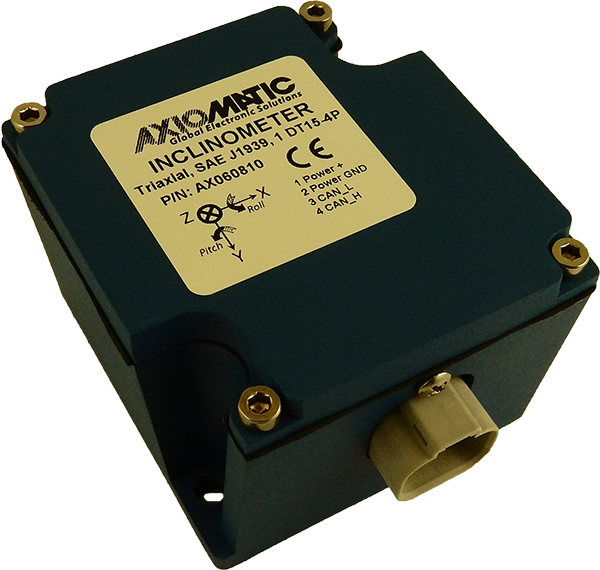 AX060810 Triaxial Inclinometer, SAE J1939 CAN